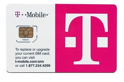Lot Of 100 Brand New T-Mobile 4G Lte Micro Sim Card