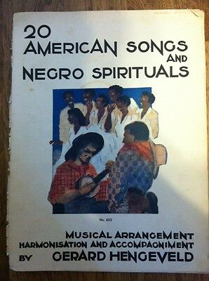 20 American Songs and Negro Spirituals Vintage Song Book Sheet Music