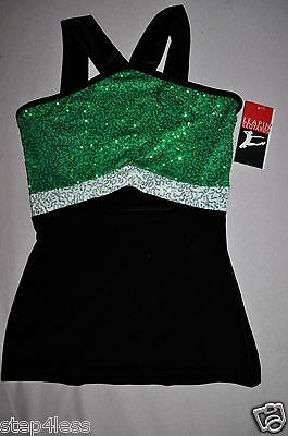 NWT- adult size Large-Costume Performance Sequin Dance velvet  top #LLTOP1048