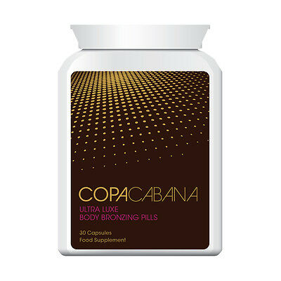 Copacabbana Tanning Pills Tablets Deep Dark Brown Golden Tan Guaranteed