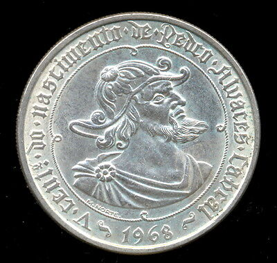 326-INDALO- Portugal. Lovely Silver 50 Escudos 1968. KM#593. Uncirculated !!!!!!