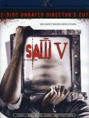 Saw V (Blu-ray Disc, 2009, 2-Disc Set, Unrated Director's Cut) brand new