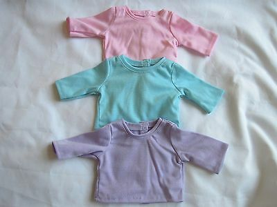 New American Girl - Set of 3 T-shirts for Doll size in original package