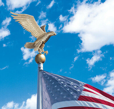 Flagpole Eagle  Bald American Patriotic Topper by Whitehall