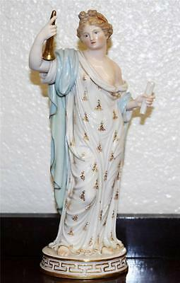 Meissen Hand Painted Porcelain Figure of Greek Goddess circa 1880s
