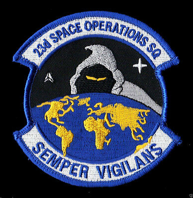 """23d SPACE OPERATIONS SQUADRON - USAF 3 3/4"""" PATCH - MINT*****"""