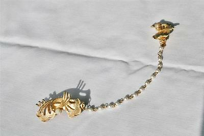 Vintage Sweater Guard......Pearls and Gold....1950's