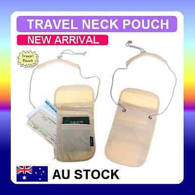 Travel Secure Passport Neck Pouch Card Ticket Money Secret Wallet Holster Bag