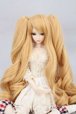 """BJD Doll Hair Wig 6-7"""" 1/6 SD DZ DOD LUTS Milktea Brown with ponytails"""