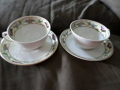 set of 2 cups and saucers wedgwood england dorothy