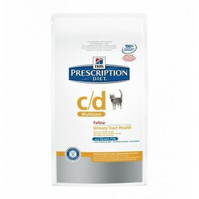 HILL S prescription diet  c/d Urinary care feline secco gusto pesce oceanico kg.