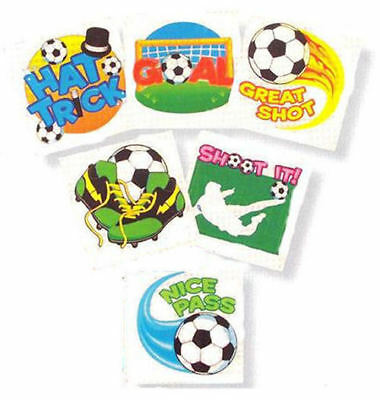 6 Football Temporary Tattoos - Pinata Toy Loot/Party Bag Fillers Wedding/Kids