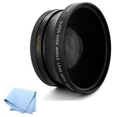 52mm High Definition .45x Wide Angle Lens Multi-Coated for Nikon D3100 Camera