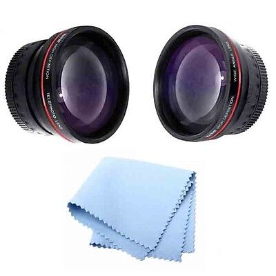 58mm Vivitar Series 1 Wide Angle & 2.2x Telephoto Lens for Canon 70D 60D T1I