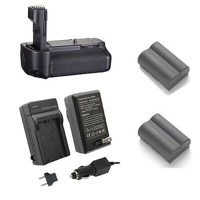 Replacement Battery Grip for Canon 50D with Charger and 2 BP-511A Batteries