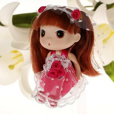 Rose Red Wedding Korea Ddung Doll Cell Phone Backpack Keychain Gift 12CM A12