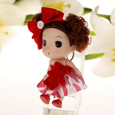 Red Korea Ddung Doll Cell Phone Backpack Ornaments Keychain Dirls Gift 12CM A06