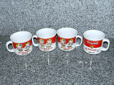 Lot 4 Campbell's Soup Campbell's Kids M'm! M'm! Good! Homestyle Mugs