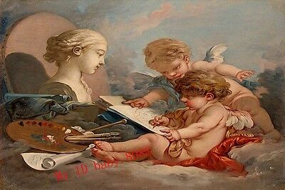 Handicraft repro Oil Painting : Francois Boucher Cupids Allegory #9703