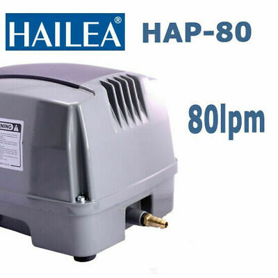 Hailea Hiblow Aquarium Fish Tank Pond Septic Air Pump HAP-80 80L/Min AU WARRANTY
