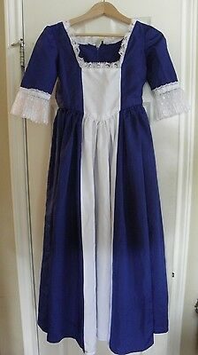 American Colonial Girls 8 Dress Halloween Costume Historical Handmade 3/4 Sleeve