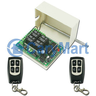4 Channel DC RF Wireless Remote Control Radio Transmitter Receiver