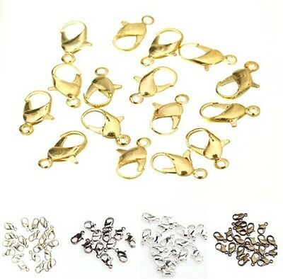 20pcs Silver/Gold/Dark Silver/Bronze Nice Metal Lobster Claw Clasps Accessories