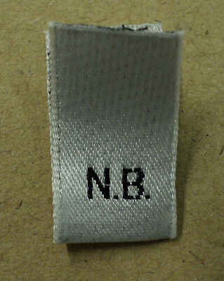 NEW BORN BABY  woven clothing / garment labels LOOP FOLD
