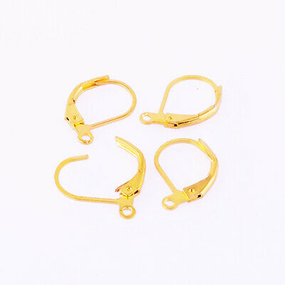 Lots 30/300pcs Black/Gold/Silver French Lever Back Earring Clasps Hooks Ear Clip