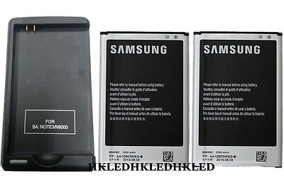 USA Seller 2x 3200mAh OEM Battery +Charger For AT&T Samsung Galaxy Note 3 N900A
