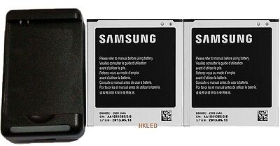 US Seller 2x 2600mAh OEM Battery +Charger For Samsung Galaxy S4 I9500 AT&T I337