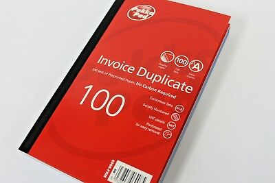 PUKKA PAD CARBONLESS DUPLICATE '100 SET' INVOICE BOOKS. 6908-FRM (210 x 130mm).
