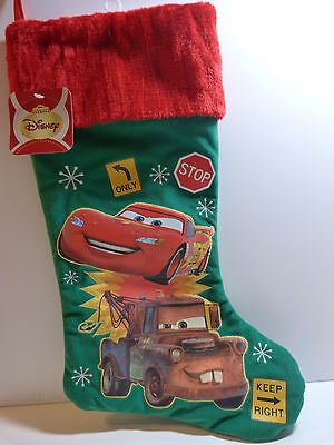 Disney Cars Christmas Stocking-Green- New With Tags