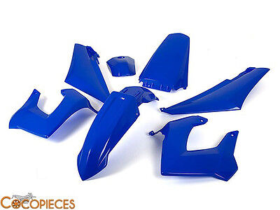 Kit carénages Derbi Senda Gilera Smt, Rcr 2000 - 2010 Fairing plastics Bleu Blue