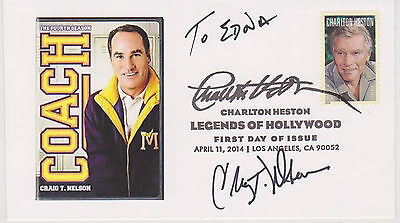 Signed Craig T. Nelson Fdc Autographed First Day Cover Coach