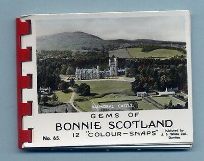 Old VTG Real Photo snaps in Colour Gems Bonnie Scotland Booklet of pictures