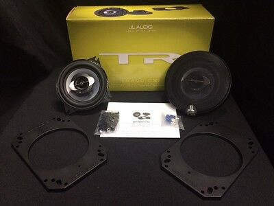 "JL AUDIO TR400-CXi CAR 4"" COAXIAL SPEAKERS 100W WITH 4""x6"" MOUNTABLE PLATES NEW"