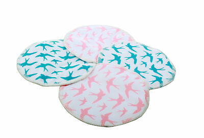 Ana Wiz Washable Bamboo Breast Pads (Pack of 4, Mixed Pack)