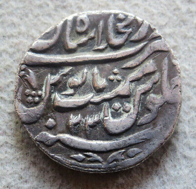 Ah 1153// 23 (1740) Silver India Mughal Empire Rupee Coin Very Fine Condition