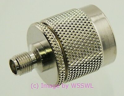 N Male to SMA Female Coax Adapter Connector - by W5SWL ®