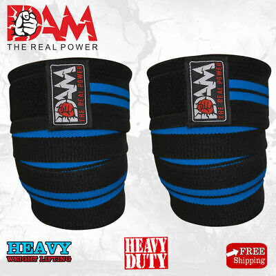 Weight Lifting Heavy Duty Knee Wraps Powerlifting/bodybuilding Gym Support Strap