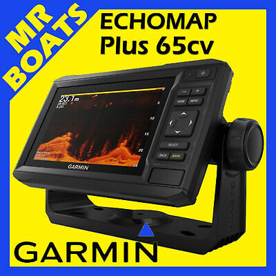 GARMIN ECHOMAP PLUS 65cv FISHFINDER CHARTPLOTTER Inc MAPS GT22HW Trans FREE POST