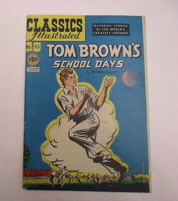Classics Illustrated #45 Tom Brown's School Days, HRN 44, VF-, White Pages