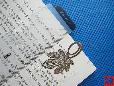 Set of 2pcs Brand New Metal Silver Leaf of the Pheonix Tree Bookmark Book Marks