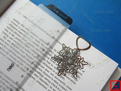 Set of 2pcs Brand New Metal Silver Snowflake Bookmark Book Marks