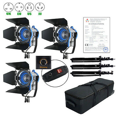 Unit 300W Dimmer Built-in Fresnel Tungsten Spot light Case+ Air Stand For Film
