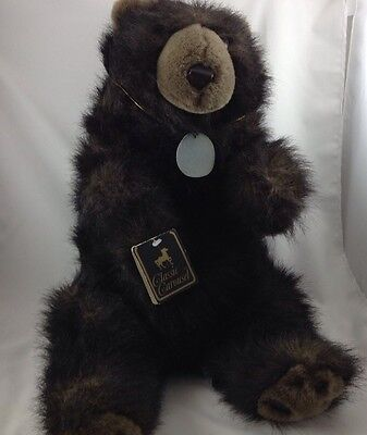 Carousel Bear  Large Brown Grizzly Plush Stuffed Guy Products Classic