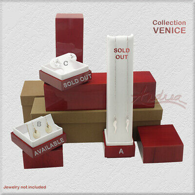 Venice Rosewood Unique Deluxe Modern Wooden Jewelry Gift Box Necklace Earring