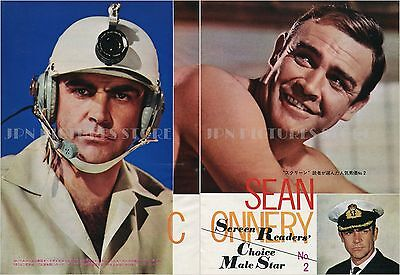 """SEAN CONNERY You Only Live Twice 1967 JPN PICTURE CLIPPINGS 8x11"""" 2-Sheets #LH/V"""