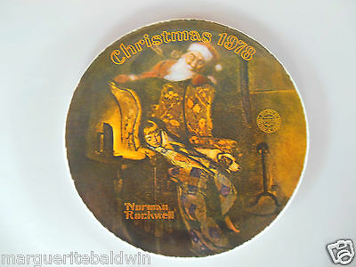 """Knowles China Rockwell 1978 """"Christmas Dream"""" Collector 8"""" Plate"""